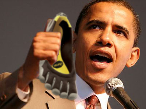 Say what you will about his policies, but he gave my shoes back.