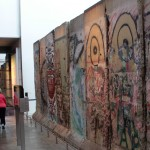 A few panels of the Berlin Wall.