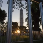 Washington Monument through a gate
